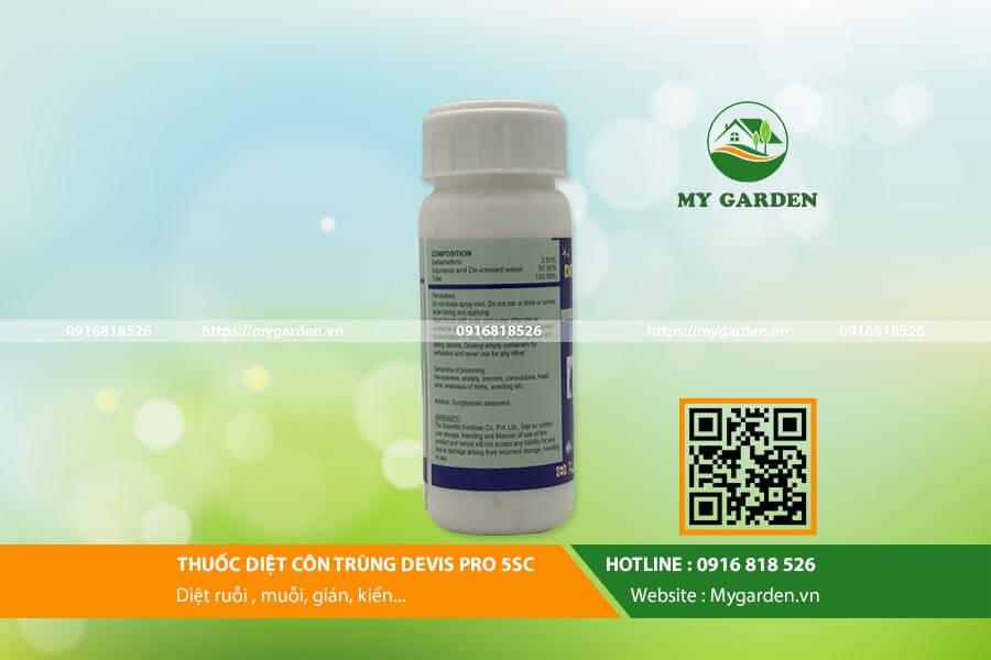 Một số thông tin cơ bản về thuốc côn trùng Devis Pro 5SC