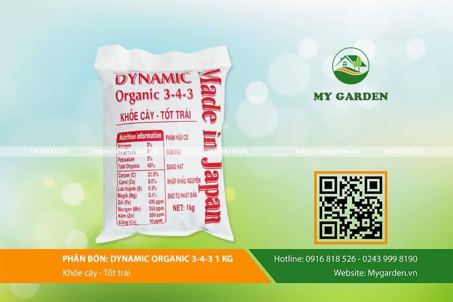 phân gà hữu cơ Dynamic 3-4-3 cung cấp dưỡng chất cho cây