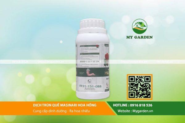 Công dụng của phân trùn quế Masinari chai 250ml