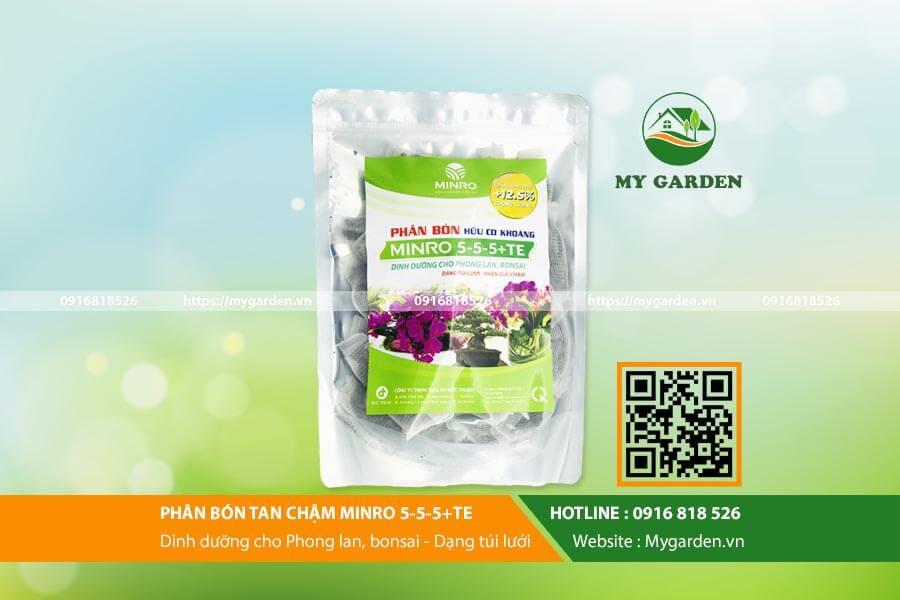 Phân bón hữu cơ Minro 5-5-5 tốt cho sự phát triển của cây