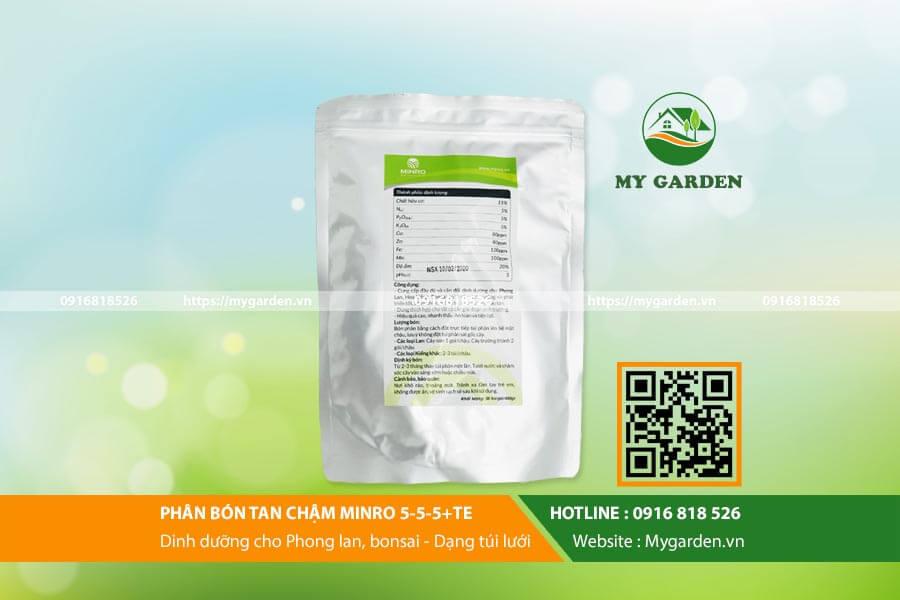 Công dụng và liều lượng sử dụng phân bón tan chậm Minro 5-5-5