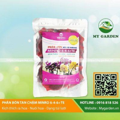 Phân bón tan chậm Minro 6-4-6 kích thích ra hoa giúp giữ hoa lâu rụng