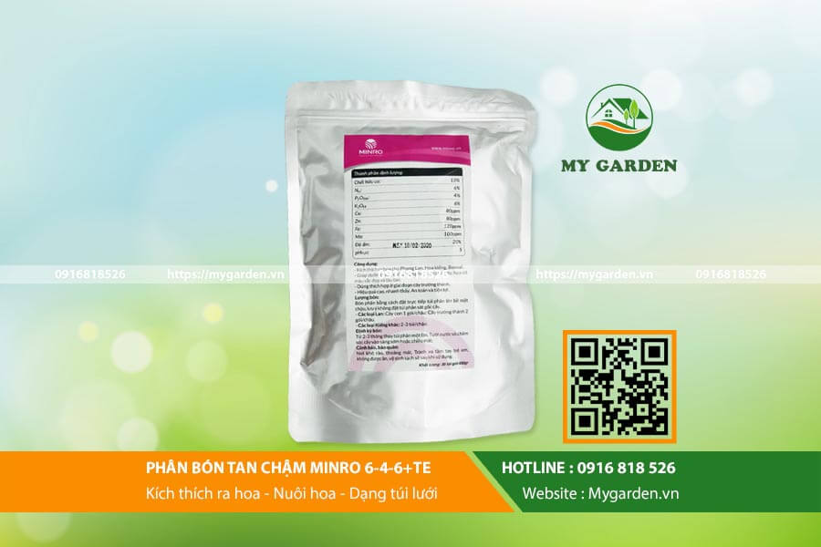 Phân bón Minro 6-4-6 phù hợp cho sử dụng với hoa lan