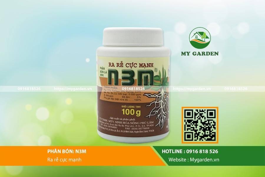 Thuốc kích thích ra rễ cực mạnh N3M 100g cho cây và hoa