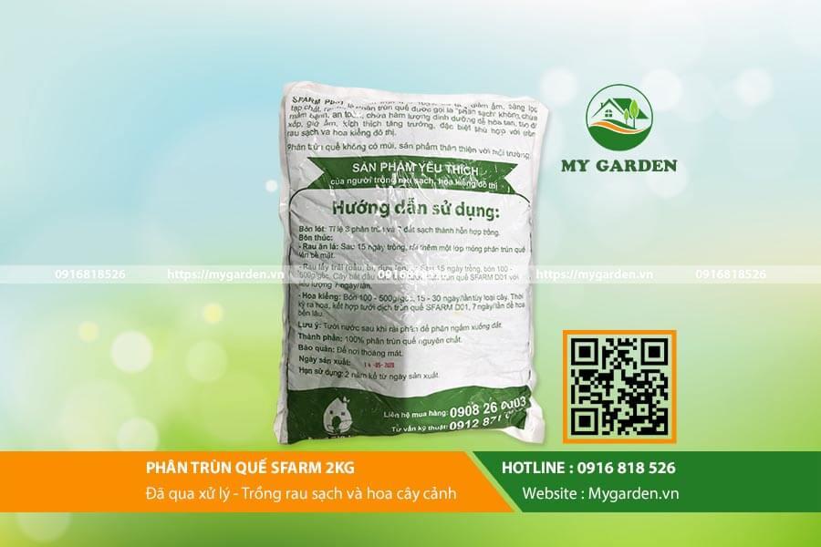 Phân Sfarm là phân bón hữu cơ tự nhiên, phù hợp để trồng cây và rau sạch