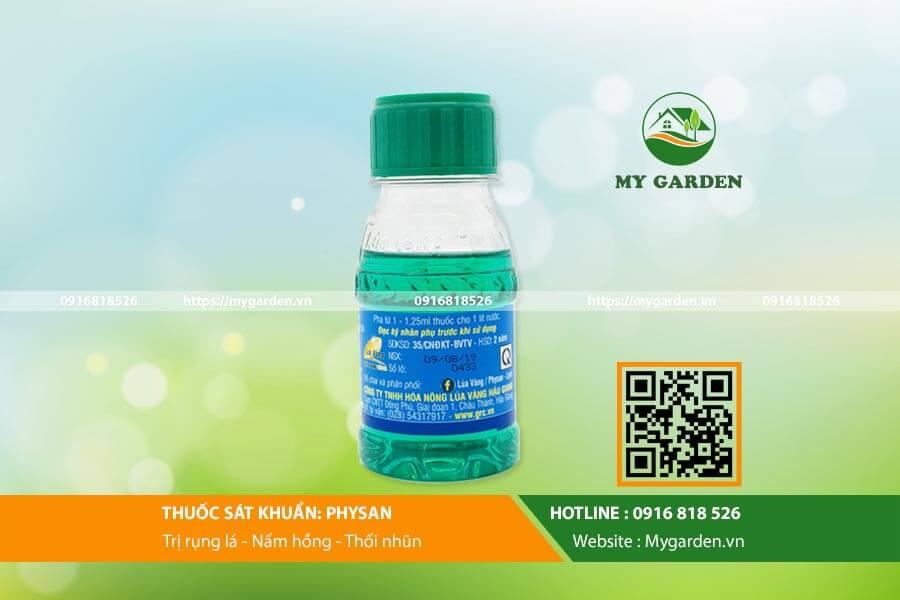 Hướng dẫn sử dụng Physan lọ 100ml đặc trị nấm lan