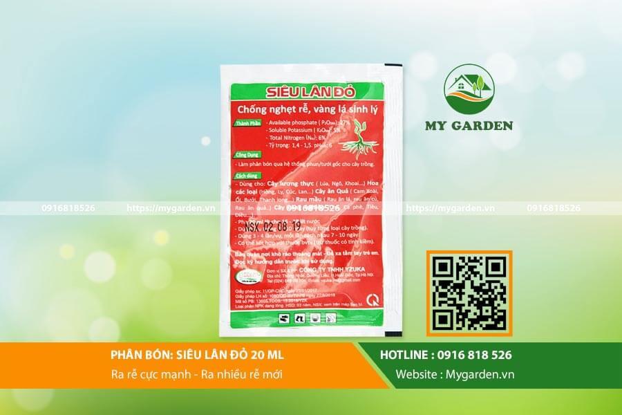 Công dụng của phân bón siêu lân đỏ cho trồng cây
