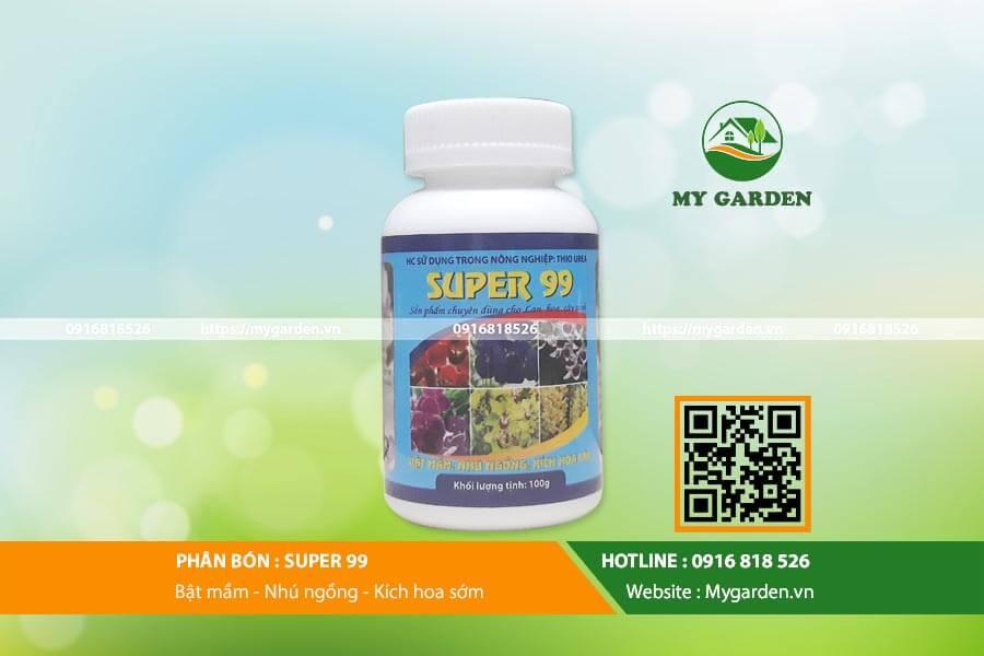 Phân bón Super 99 - Kích thích ra hoa, trái nghịch mùa hiệu quả