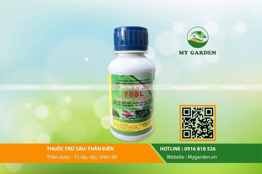 Thuốc trừ sâu thảo mộc Thần Điền 78SL dùng cho rau, cây cảnh