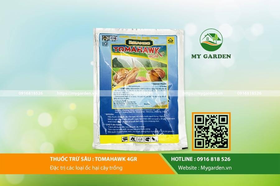 Thuốc diệt ốc sên Tomahawk an toàn với cây trồng