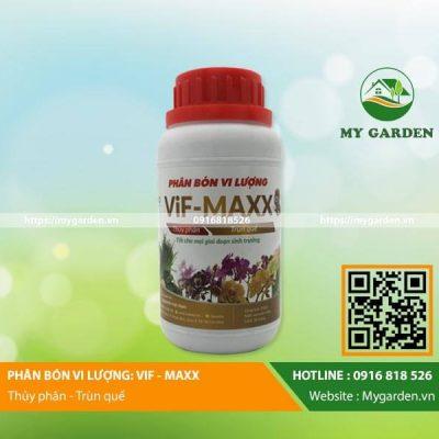 Dịch trùn quế hữu cơ Vif Maxx chai 250ml phun tưới cho cây