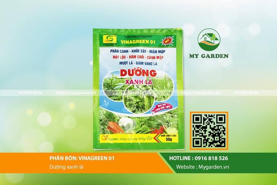 Phân bón Vina Green 01 hỗ trợ tốt nhất cho quá trình sinh trưởng của cây