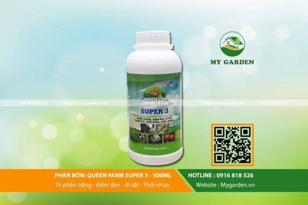 Công dụng của thuốc bảo vệ cây Queen farm Super 3 500 ml