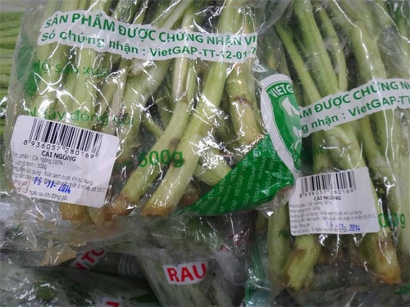 Sản phẩm rau được sản xuất theo kỹ thuật trồng rau sạch VietGAP