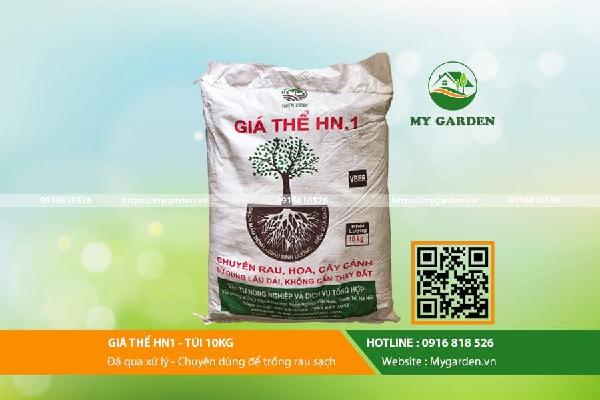 Giá thể trồng rau sạch HN1