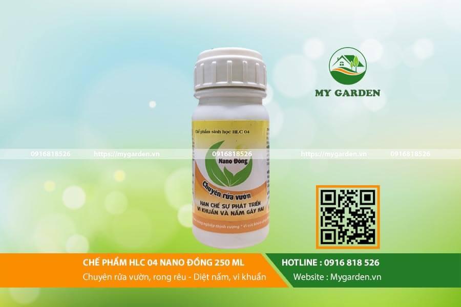 Nano đồng 250ml chuyên dùng rửa vườn, sạch rong rêu, nấm bệnh
