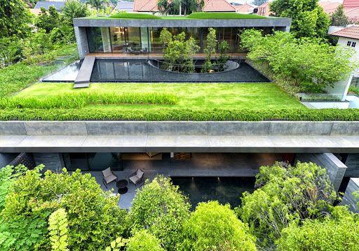 Thi công vỉ thoát nước vườn mái