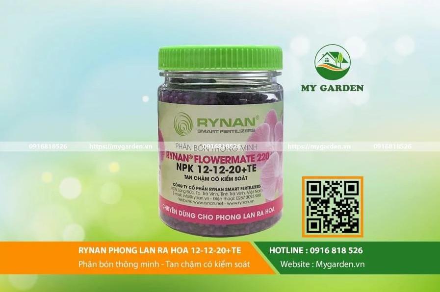 Phân bón cho lan tan chậm có kiểm soát NPK-12-12-20 + TE cho lan ra hoa